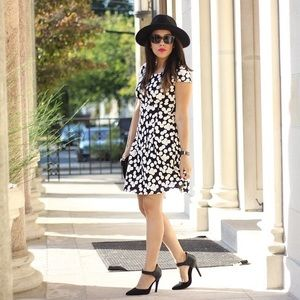 Maison Jules Dresses & Skirts - Black & White Polka Dot Dress