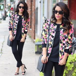 Girls on film Jackets & Blazers - Neon Bomber Jacket