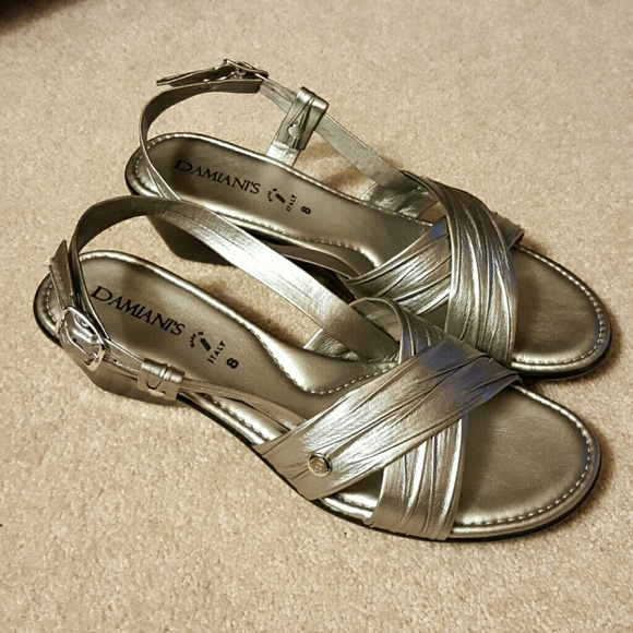 7b85f62492 Damiani's Shoes   Damianis Silver Sandals Size 8 Comfortable   Poshmark