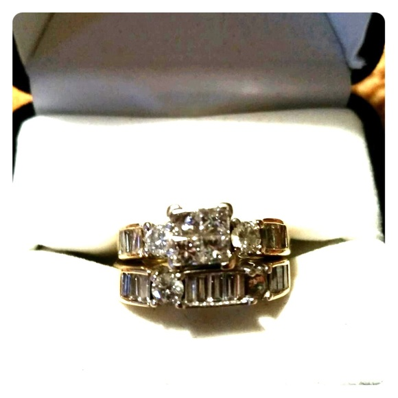 69% off Jewelry 2kt diamond wedding set from Sylvia s closet on Poshmark
