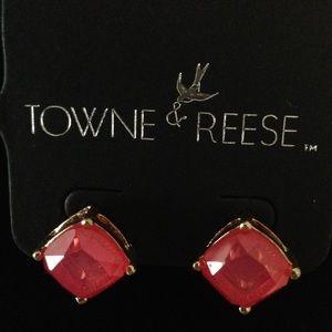 Towne & Reese Alex Earrings - Pink