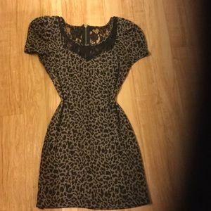 Leopard girly sexy SALE bodycon dress