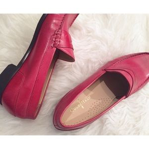 Cole Haan Shoes - 🆕 Cole Haan Muted Red Penny Loafers