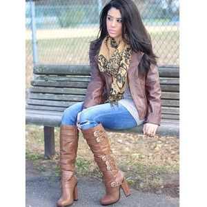 Charlotte Russe Shoes - Knee High Buckle Boots