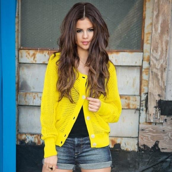 a080560796 Yellow Adidas Sweater by Selena Gomez