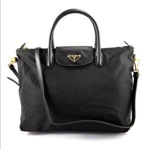 77% off Prada Handbags - PRADA Tessuto Saffiano Pochette Shoulder ...