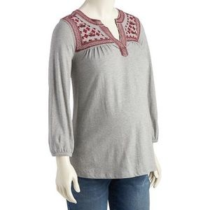 NWT Old Navy Maternity Embroidered Yoke Top XL