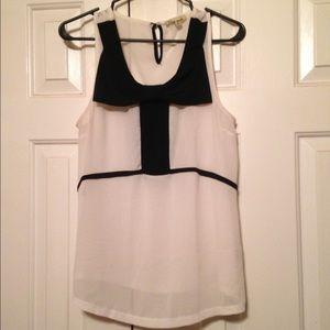 White and black dress tank top