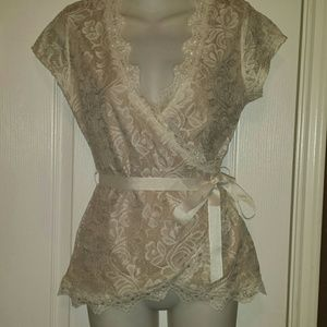 Tops - Lace wrap around shirt