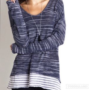 A Girl Named Jax Tops - ♦️SALE ♦️ Double Layered Striped Top