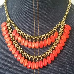 David Aubrey Orange Bead Statement Necklace