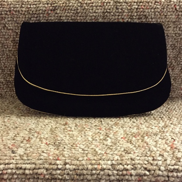 Brooks Brothers Handbags - Brooks Brothers black velvet clutch {•}