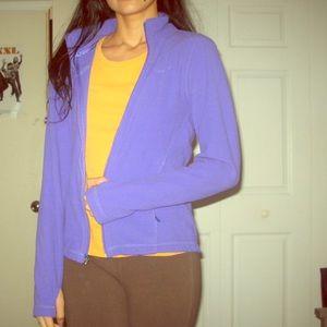 Nike purple therma-fit long sleeve zip up jacket