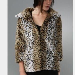 Pencey Jackets & Blazers - Pencey High Collar Leopard Coat
