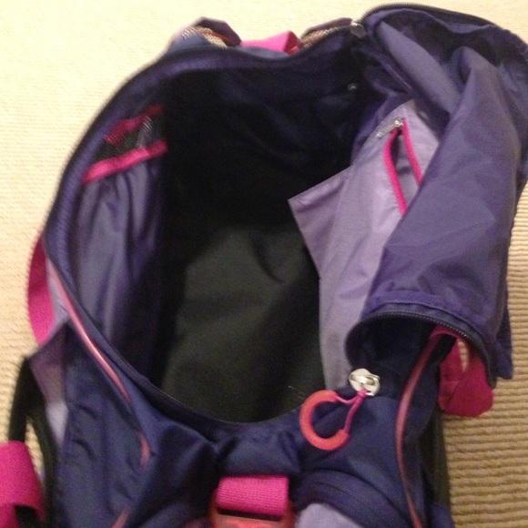 purple nike bag