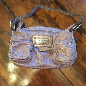 guess tan purse with snake