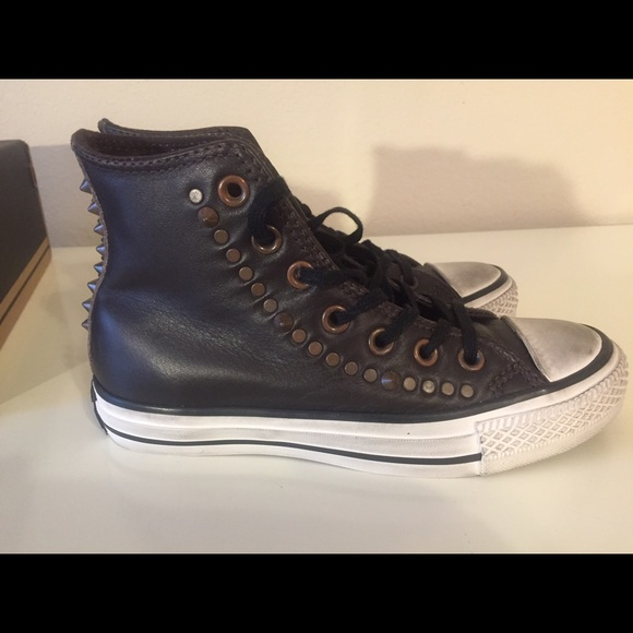 Nwb Hitop Studded Leather Converse Size