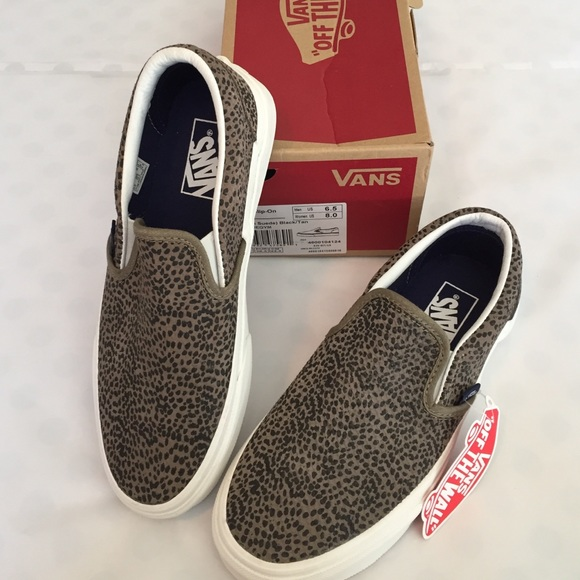 816ce3cf64e Flash Sale🎉VANs Cheetah Suede Slip-on Sneakers