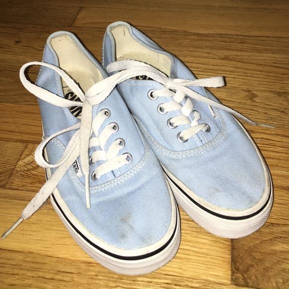 Sky Blue Classic Vans   Poshmark
