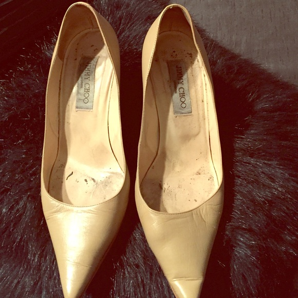 9bee3b60ffb Jimmy Choo Shoes - PreLoved Authentic Nude Jimmy Choo Pumps resoled