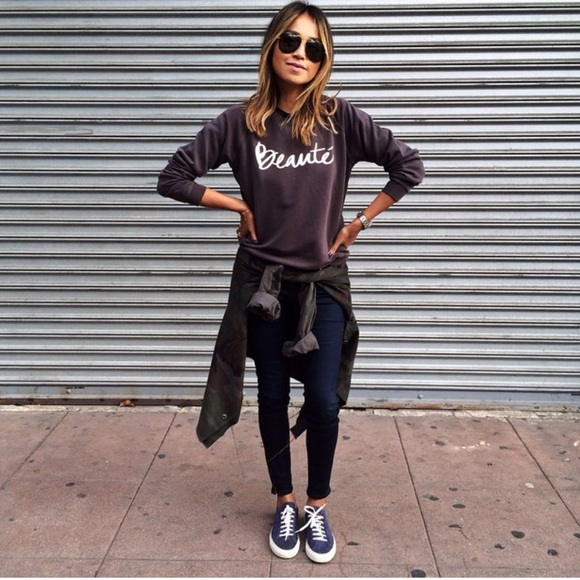 Shop SincerelyJules Sweaters - Shop SincerelyJules S Beaute sweater in grey NWT