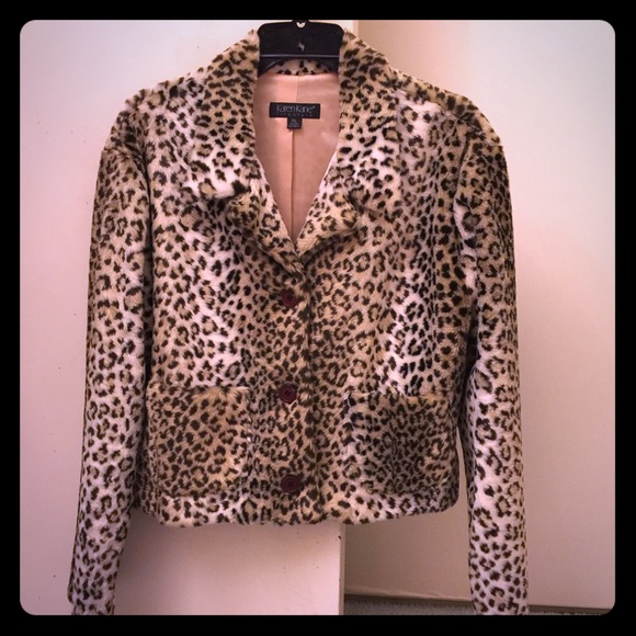 f02ba6906c34 Karen Kane Jackets & Blazers - Karen Kane Crop Leopard Coat
