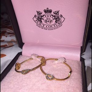 Juicy Couture hoop earrings 