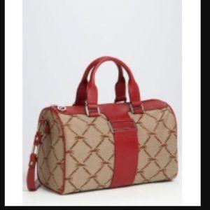 Longchamp jacquard satchel
