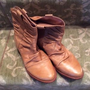 Corso Como Shoes - Leather tan booties