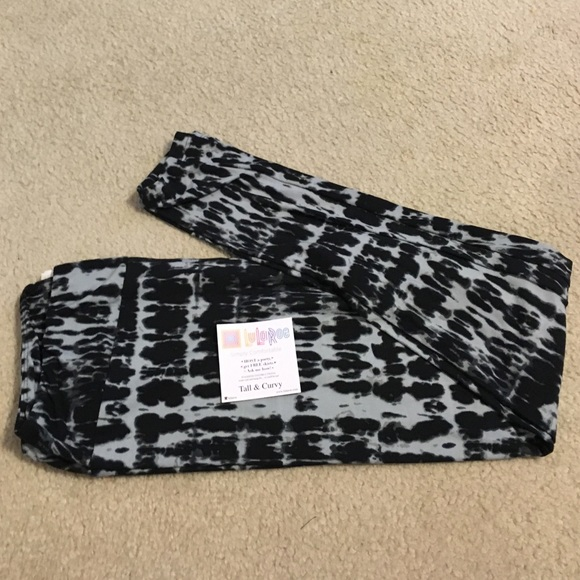48797078e651d4 LuLaRoe Pants | New Black Grey Tie Dye Tc Leggings | Poshmark