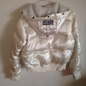 89aa5f5e6 Bomb Boogie Jackets   Coats - White Down Bomber Jacket