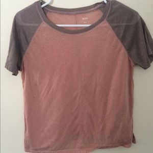 pink and gray t shirt from urban outfitters