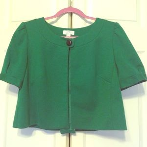 60's-Inspired Green Bolero Jacket