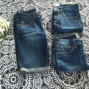 Abercrombie Kids short pants size 16. all 3 for 40