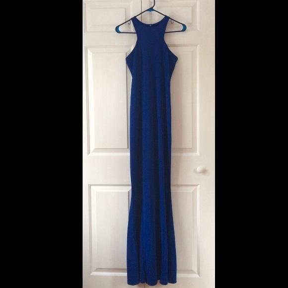 Missguided Kaisa Cobalt Blue High Neck Maxi Dress.  M 569bd7dfd14d7b644b0042cd 40b933bb1
