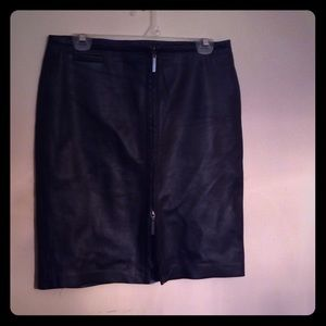 100% Leather Skirt Express