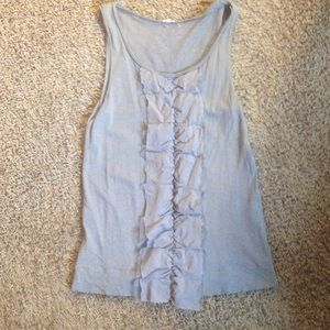 [J Crew] ribbon ruffle tank sleeveless top