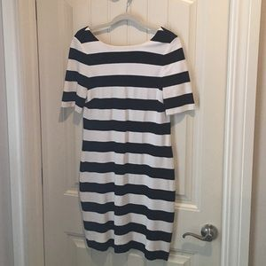 Banana Republic Striped Stretch Knit Dress