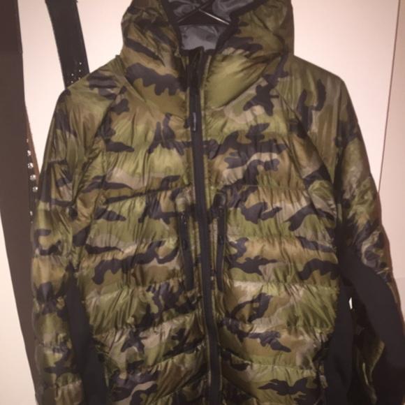 camo canada goose coat