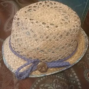 Fedora hat love it blue paisley new