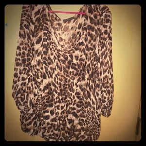 IGIGI Tops - Sheer leopard print blouse from IGIGI