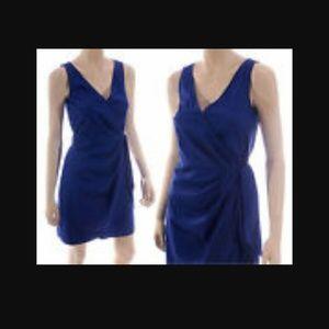 LAST DAY Navy Blue wrap dress