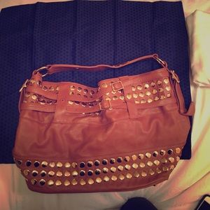 Rebecca Minkoff camel studded tote