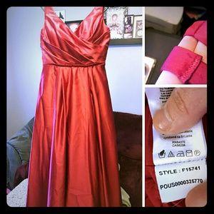 09b0319c5c81 David's Bridal Dresses | Davids Bridal Apple Red F15741 | Poshmark