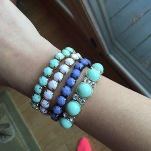 All 4 bracelets for sale. Pretty pastels.
