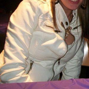 Xhilaration Jackets & Blazers - White leather jacket