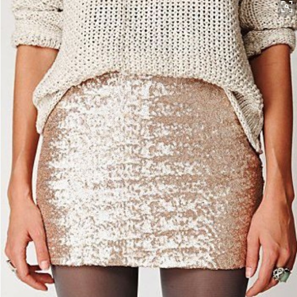 50% off GAP Dresses & Skirts - NWT GAP Gold Sequin Mini Skirt from ...