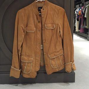 Gap gold leather jacket