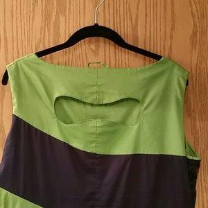 skunkfunk  Dresses - Skunkfunk Karine green and blue stripe dress
