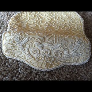 Beaded Purse in Ivory